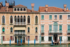 Venetian houses in Sestiere San Marco Stock Photography