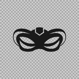 Venetian icon symbol carnival mask isolated on a transparent background. Decoration element costume for the masquerade, parties and various celebrations Stock Image