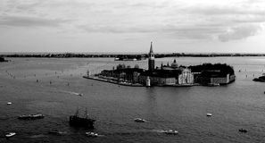 Venetian island. On of venetian islands viewed from above from watch tower Royalty Free Stock Photos
