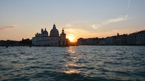 Venetian island and sunset Stock Images