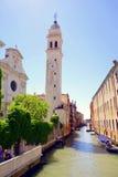 venetian kanal Fotografering för Bildbyråer