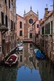 Venetian kanaler Arkivbilder