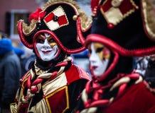 Venetian karneval, Annecy, Frankrike Arkivfoton