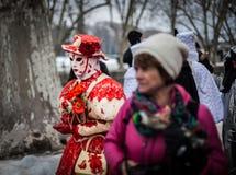 Venetian karneval, Annecy, Frankrike Royaltyfria Foton
