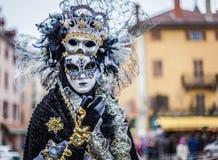 Venetian karneval, Annecy, Frankrike Fotografering för Bildbyråer