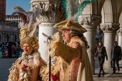 Venetian karneval, Italien royaltyfri bild