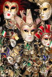 Venetian karnevalmaskeringar Arkivbilder