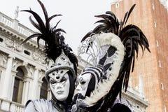 Venetian karnevalmaskeringar Arkivbild
