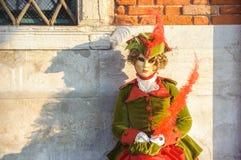 Venetian karnevalmaskeringar Arkivfoto