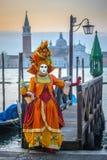 Venetian karnevalmaskeringar Arkivfoton
