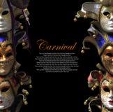 Venetian karnevalmaskeringar för tappning Arkivbilder