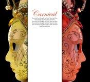 Venetian karnevalmaskeringar för tappning Royaltyfri Fotografi