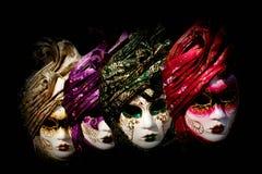 Venetian karnevalmaskeringar, Italien Fotografering för Bildbyråer
