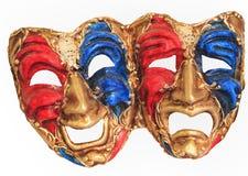 Venetian karnevalmaskeringar på en vit bakgrund Royaltyfri Fotografi