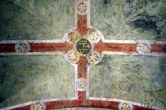 Venetian katolsk väggmålning Arkivfoton