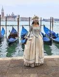 Venetian Lady Royaltyfria Foton
