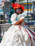 Venetian Lady in costume Stock Images