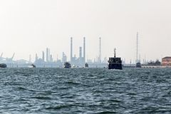 Venetian Lagoon industry Stock Photo
