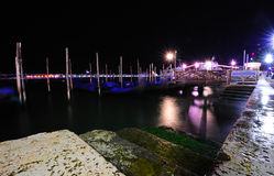 Venetian lagoon at night Stock Photos