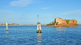 Venetian Lagoon in sunny day, Venice, Italy Stock Images