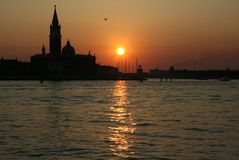 Venetian lagun Arkivfoto