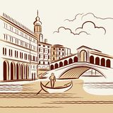 Venetian landscape Royalty Free Stock Photos
