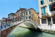 Venetian landscape with a bridge Royalty Free Stock Photo