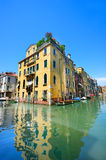 Venetian landscape with a canal Stock Photos
