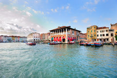 Venetian landscape of Grand Canal Stock Images