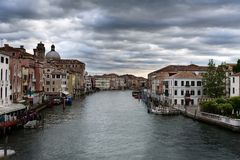 Venetian landscape. View of Canal Grande Stock Photo