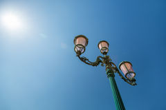 Venetian lantern and blue sky, Venice, Italy Royalty Free Stock Photos