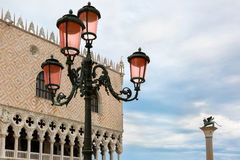 Venetian lantern on St Mark Square, Venice, Italy Stock Photo