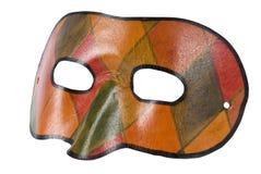 Venetian Leather Mask Isolated on White Stock Photos
