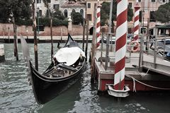 venetian liggande E royaltyfri fotografi