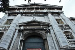 venetian liggande E royaltyfria bilder