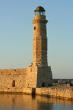 Venetian lighthouse. View of Venetian harbour: lighthouse at Rethymnon town (Crete, Greece Royalty Free Stock Images