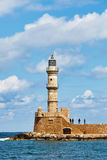 Venetian lighthouse in Chania, Royalty Free Stock Photos