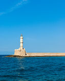 Venetian lighthouse in Chania Royalty Free Stock Images