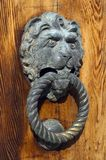 Venetian lion head door knob Stock Photos