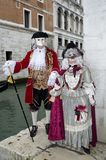 Venetian luxurious costume on Carnival in Venice Royalty Free Stock Photo