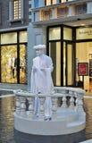 venetian mänsklig staty för kasino Arkivbild