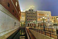 Venetian Macao Casino and Hotel luxury resort Macau gold light Royalty Free Stock Photos