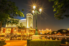 Venetian Macao by night Royalty Free Stock Photography