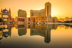 The Venetian Macao Sunset Stock Image