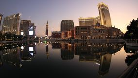 The Venetian Macao Sunset stock video footage