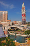 The Venetian Macau Casino and Accommodation. With St Mark Campanile & Rialto Bridge royalty free stock photography