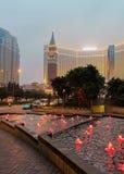 Venetian Macau Casino and Hotel luxury resort Macao at dusk Royalty Free Stock Photography