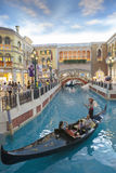 VENETIAN MACAU CHINA - AUGUST 22,2014 : tourist in gondola boat Royalty Free Stock Photos
