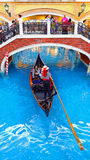 The venetian macau - gondola ride Royalty Free Stock Photography