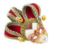 Venetian Mask. Isolated over white Stock Photo